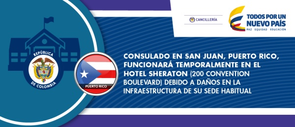 Habilitan sede temporal para que opere Consulado de Colombia en San Juan Puerto Rico